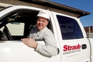 Jeff Walters in a Straub Truck